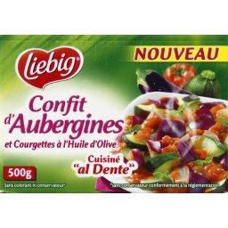 Confit d'aubergines et courgettes cuisiné 'al dente'