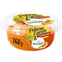 Boursin Boursin Potiron carotte touche de balsamique et Boursin la barquette de 160 g