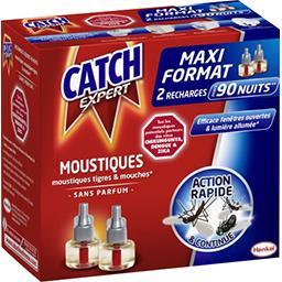 Catch Expert - Recharge diffuseur électrique moustiques & ... les 2 recharges de 18 ml