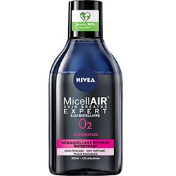 Nivea Nivea Démaquillant biphase MicellAIR O2 Oxygénation Waterproof le flacon de 400 ml