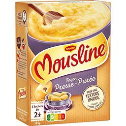 Maggi Mousline Purée façon presse-purée les 3 sachets de 65 g