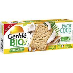 Gerblé Gerble Bio Sablé pavot coco BIO le paquet de 132g