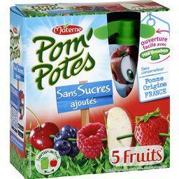 Pom'Potes - Spécialité de 5 fruits sans sucres ajout...
