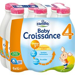 Candia Candia Grandlait - Lait Baby liquide 4, dès 20-36 mois les 6 bouteilles de 1 l