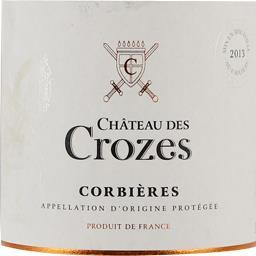 Château des crozes, vin rouge