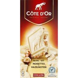 Chocolat blanc aux noisettes entières