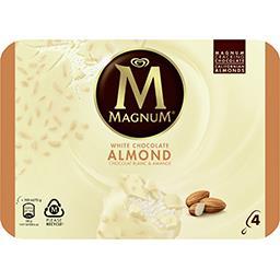 Magnum Magnum Glace chocolat blanc amande la boite de 4 - 292 g