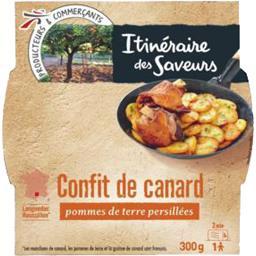Confit de canard pommes de terre persillées