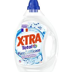 X•TRA X-Tra Total+ - Lessive liquide Pure & Efficace le flacon de 1,95 l