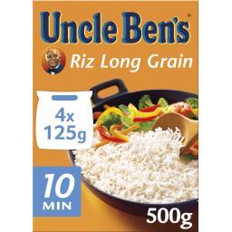 Uncle Ben's Uncle Ben's Riz long grain 10 minutes les 4 sachets de 125 g
