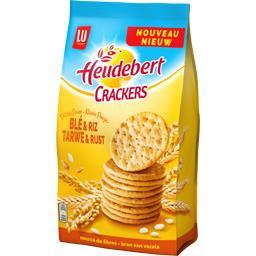 Heudebert Crackers blé & riz le paquet de 250 g