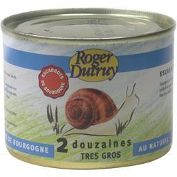 Roger Dutruy Escargots de Bourgogne très gros 2 douzaines la boite de 125 g net égoutté