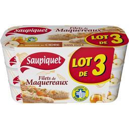 Saupiquet Filets de maquereaux marinade au cidre