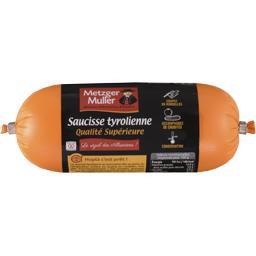 Metzger Muller Saucisse tyrolienne qualité supérieure la saucisse de 250 g