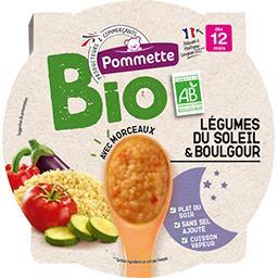 Légumes du soleil & boulgour BIO, dès 12 mois