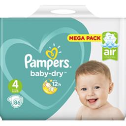 Pampers Pampers Baby-dry - taille 4 9-14 kg - couches Le paquet de 86