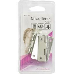 Charnières acier 50mm 30mm