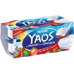 Yaos - Le Yaourt à la Grecque sur lit de fraises