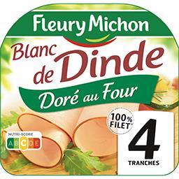 Fleury Michon Fleury Michon Blanc de dinde doré au four la barquette de 4 tranches - 160 g