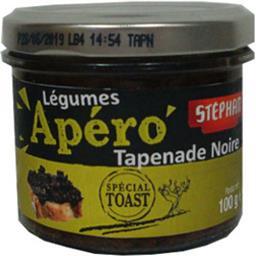 Stéphan Apéro - Légumes tapenade noire spécial toast la boite de 100 g