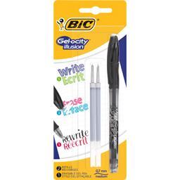 Bic Bic Stylo gel effaçable Gelocity Illusion noir le stylo + 2 recharges
