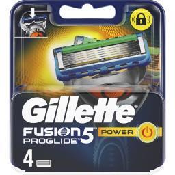 Gillette Gillette Lames de rasoir pour homme Fusion 5 ProGlide Power la boite de 4