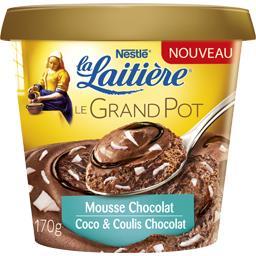 Mousse chocolat Le Grand Pot coco & coulis chocolat