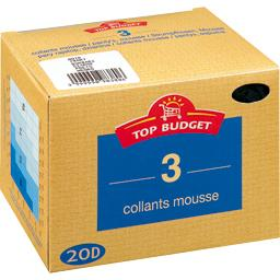 Collants mousse - 20D - noir T5
