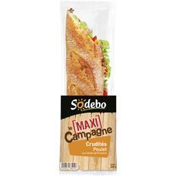 Le Maxi Baguette - Sandwich campagne poulet/crudités