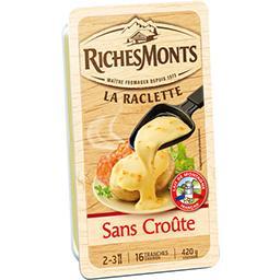 Riches Monts Riches Monts Fromage La Raclette sans croûte la barquette de 16 tranches - 420 g