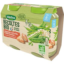 Les Récoltes BIO - Légumes verts riz poulet BIO, dès 6 mois