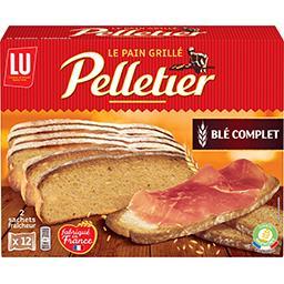 Pelletier LU Pelletier - Le Pain grillé pain complet la boite de 24 tranches - 500 g