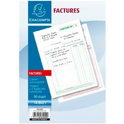 Carnet autocopiant factures original + duplicata 148...