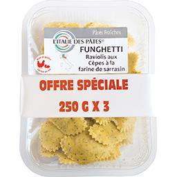 L'Italie des Pâtes Funghetti raviolis aux cèpes à la farine de sarrasin