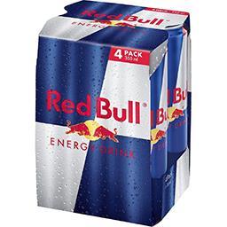 Red Bull Red Bull Boisson énergisante les 4 canettes de 35,5cl