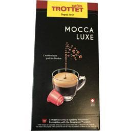 Cafés trottet Capsules de café mocca luxe La boîte de 10 capsules