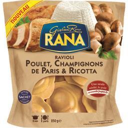 Ravioli poulet champignons de Paris & Ricotta