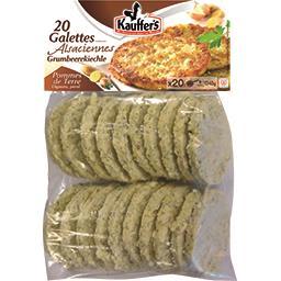Galettes alsaciennes pommes de terre oignons persil