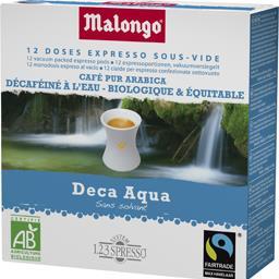 Dosettes de café expresso Deca Aqua décaféiné BIO