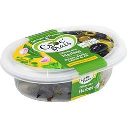 Croc' frais Croc'frais Olives dénoyautées aux herbes, doux la barquette de 200 g