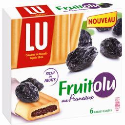 BelVita, Fruitolu, délices pruneaux, barres céréalières aux pruneaux