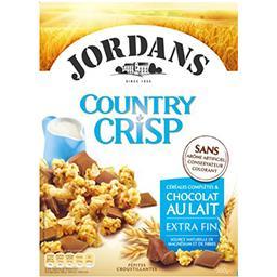 Jordans Jordans Country Crisp - Céréales complètes & chocolat au lait extra fin la boite de 550 g