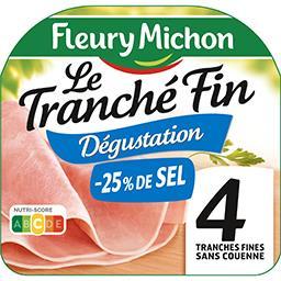 Le Tranché Fin - Jambon sans couenne réduit en sel
