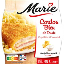 Marie Marie Cordon bleu de dinde coquillettes au fromage la barquette de 280 g