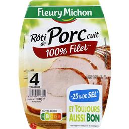 Rôti de porc cuit 100% filet -25% de sel
