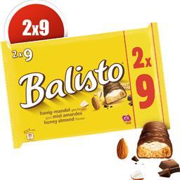 Balisto Balisto Barres chocolatées goût miel amandes les 18 barres de 18,5 g