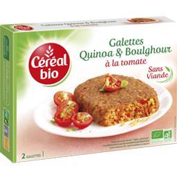 Galettes quinoa & boulghour à la tomate bio
