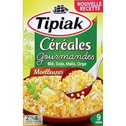 Tipiak Tipiak Céréales Gourmandes - Mélange de céréales blé soja maïs orge les 2 sachets de 200 g