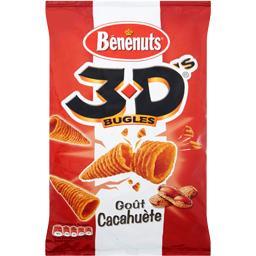 Bénénuts Bénénuts 3D Bugles - Biscuits apéritif goût cacahuète le sachet de 85 g