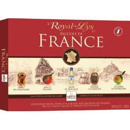 Abtey Royal des Lys Chocolat noir fourré Alcools de France la boite de 250 g
